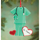 Personalized Green Scrubs Ornament, One Size