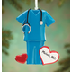 Personalized Blue Scrubs Ornament, One Size