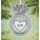 Personalized Engagement Ring Ornament, One Size