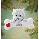 Personalized Westie Ornament, One Size