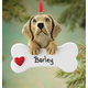 Personalized Yellow Lab Ornament, One Size