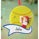 Personalized Softball Ornament, One Size