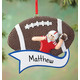 Personalized Football Ornament, One Size