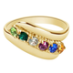 Birthstone Crystal Gold-Plated Mother's Ring, One Size