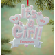Personalized It's A Girl Ornament, One Size