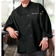 Personalized Black Chef's Jacket, XL