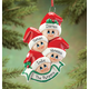 Personalized Family In Stocking Caps Ornament, One Size