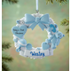 Personalized Baby's First Christmas Wreath Ornament, One Size