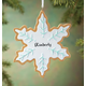 Personalized Snowflake Cookie Ornament Personalized, One Size
