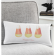 Personalized Candy Corn Lumbar Pillow, One Size