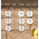 Dates To Remember Wall Hanging Additional Tags, Set Of 24, One Size