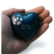 Personalized Brass Paw Print Heart Keepsake, One Size
