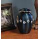 Personalized Blue Brass Paw Print Pet Urn, One Size