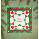 Personalized Christmas Quilt Square Ornament, One Size