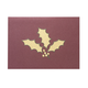 Holly Leaf Christmas Card Set Of 18, One Size