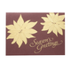 Gold Poinsettia Christmas Card Set Of 18, One Size