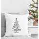 Personalized Christmas Tree Throw Pillow 16