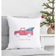 Personalized Christmas Tree Truck Throw Pillow 16