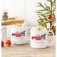 Personalized Christmas Tree Truck Large Coffee Mugs 20 Oz., One Size