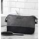 Personalized Two Tone Dopp Kit, Grey/Black, One Size
