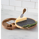 Personalized Slate And Acacia Cheese Board With Utensils, One Size