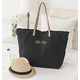 Personalized Black Overnight Tote, One Size