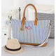 Personalized Striped Weekender Tote, One Size