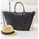 Personalized Black Microfiber Weekender Tote, One Size