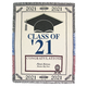 Personalized 2021 Graduation Afghan, One Size