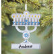 Personalized Menorah Ornament Plain, One Size