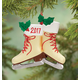 Personalized Vintage Skates Ornament, One Size