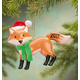 Personalized Woodland Fox Ornament, One Size