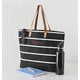 Personalized Large Striped Tote Bag, One Size