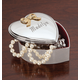 Personalized Silverplated Heart Box, One Size