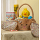 Personalized Brown Bunny Floral Easter Basket, One Size