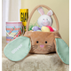Personalized Brown Bunny Pin Stripe Easter Basket, One Size