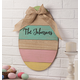 Personalized Wood Egg Sign With Burlap Bow, One Size