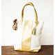 Personalized Gold Faux Leather Weekender Tote, One Size