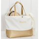 Personalized Gold Metallic Color Dipped Tote Bag, One Size