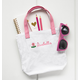 Personalized Child's Pink Flower Tote Bag, One Size