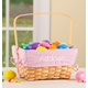 Personalized Pink Gingham Wicker Easter Basket, One Size