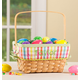 Personalized Plaid Wicker Easter Basket, One Size