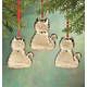Personalized Brass Birthstone Cat Ornament, One Size