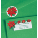 Poinsettia Labels And Seals Set/Both, One Size