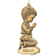 Personalized Bronze Boy Ornament, One Size