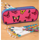 Personalized Butterfly Pencil Case And Pencil Set, One Size