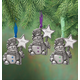 Personalized Pewter Birthstone Snowman Ornament, One Size