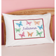 Personalized Butterflies Pillowcase, One Size