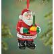 Personalized Bubble Light Santa Ornament, One Size