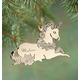 Personalized Unicorn Metal Ornament, One Size